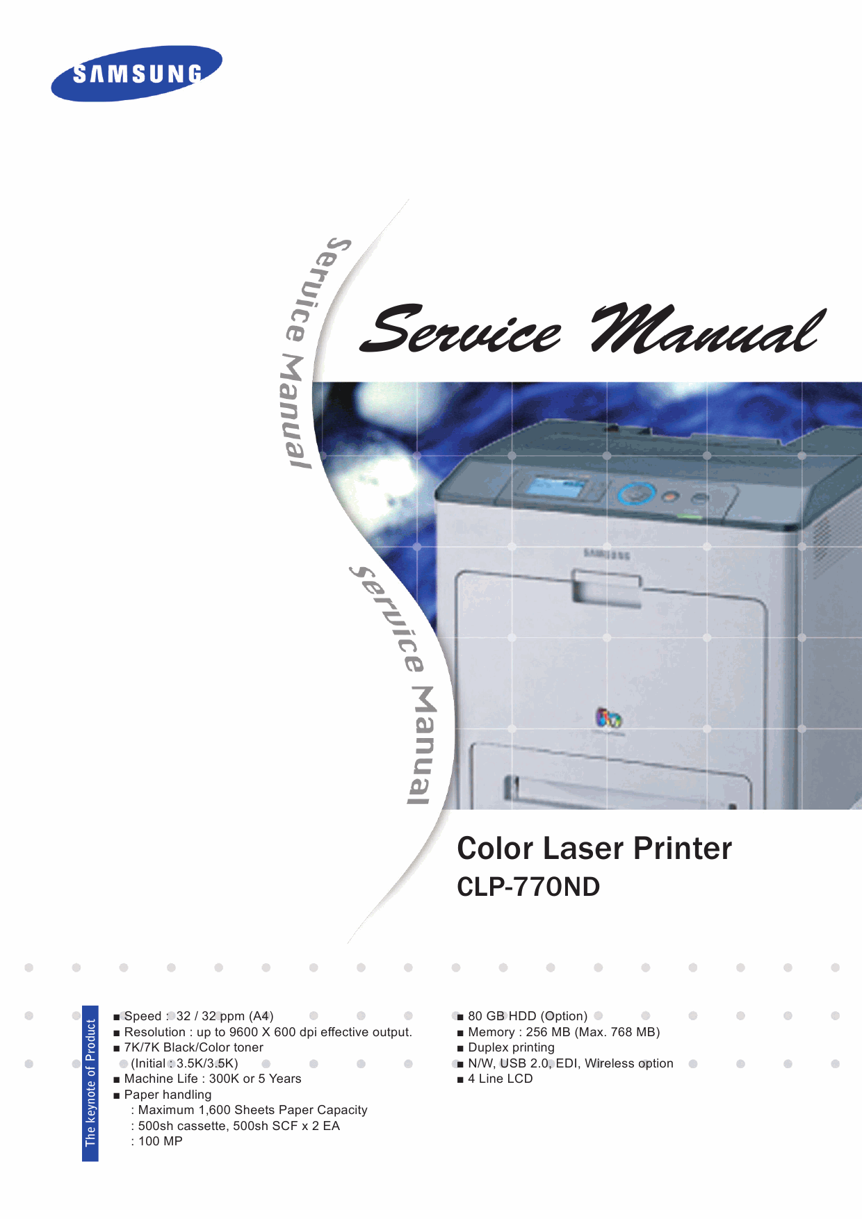 Samsung Color-Laser-Printer CLP-770ND Parts and Service Manual-1